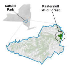 kaaterskill wild forest locator map