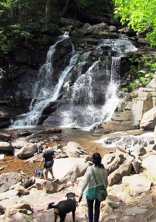 bastion falls at the kaaterskill fall trailhead