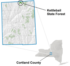 Kettlebail State Forest locator map