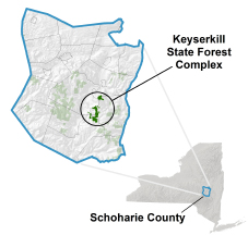 Keyserkill State Forest locator map
