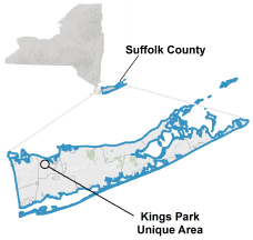 Kings Park Natural Resource Area locator map