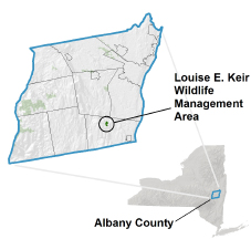 Louise E. Keir WMA Locator Map