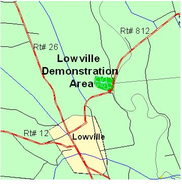 Map of Lowville Demonstration Area