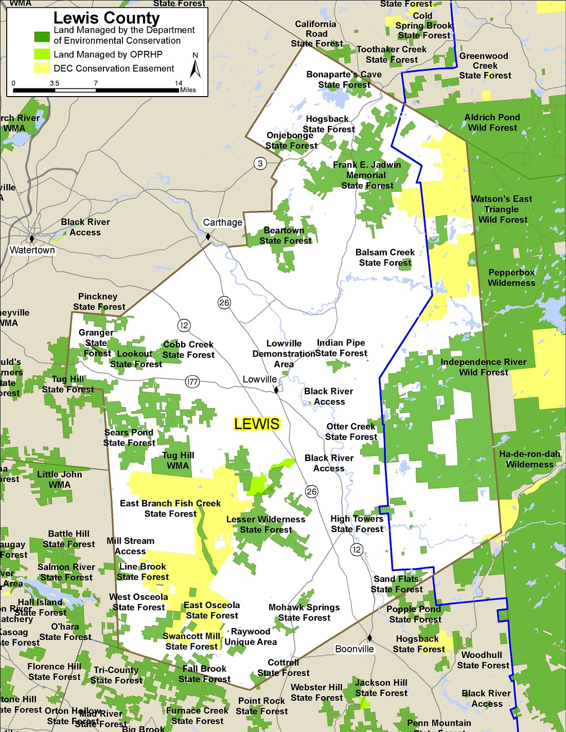 Lewis County Map - NYS Dept. of Environmental Conservation