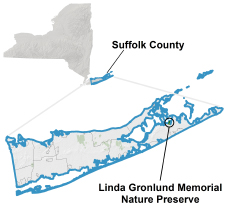 Linda Gronlund locator map
