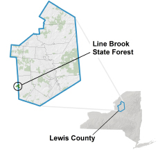 Line Brook State Forest locator map