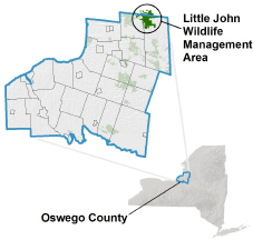 Little John WMA locator map
