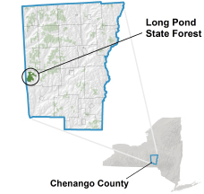 Long Pond State Forest locator map