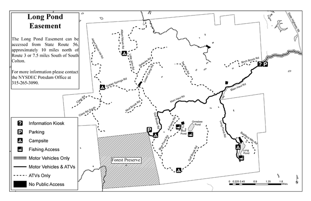 Long Pond Easement Map