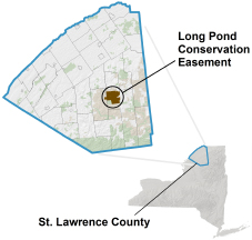 Long Pond Conservation Easement locator map