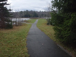 An accessible path at Looking Glass Pond