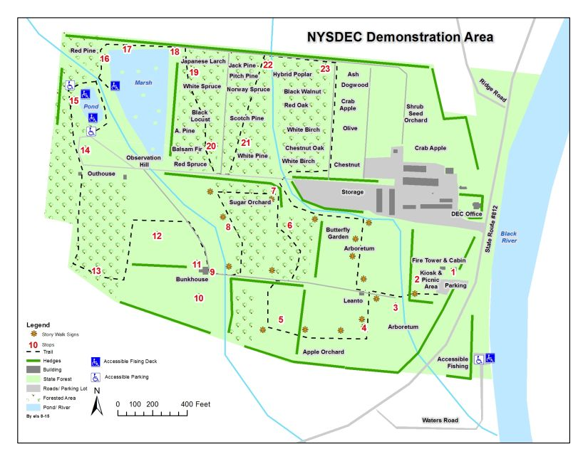Map of Lowville Forestry Demonstration Area