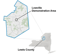 Lowville Demonstration Area locator map