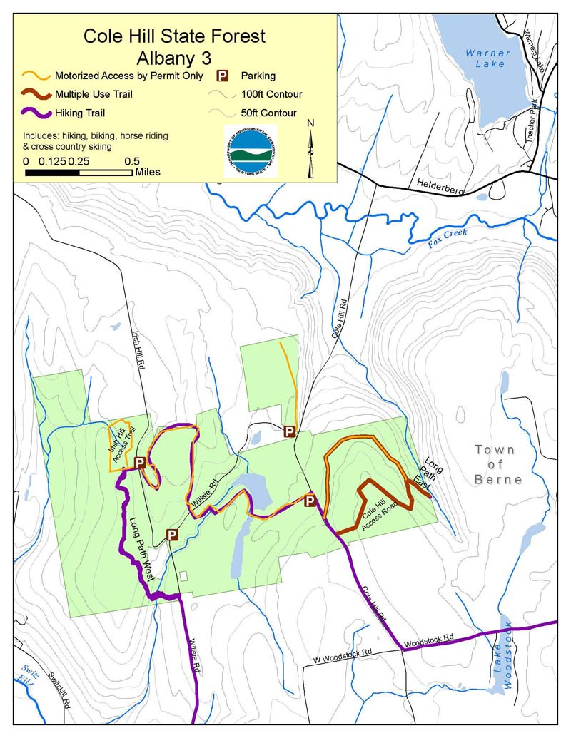 Cole Hill State Forest Map