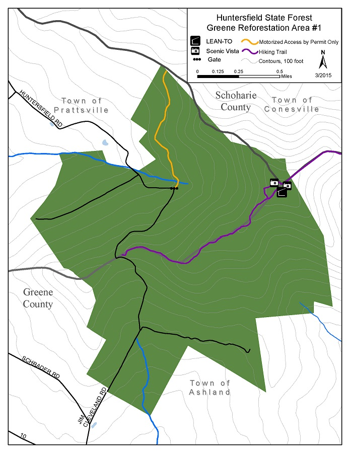 Huntersfield State Forest Map