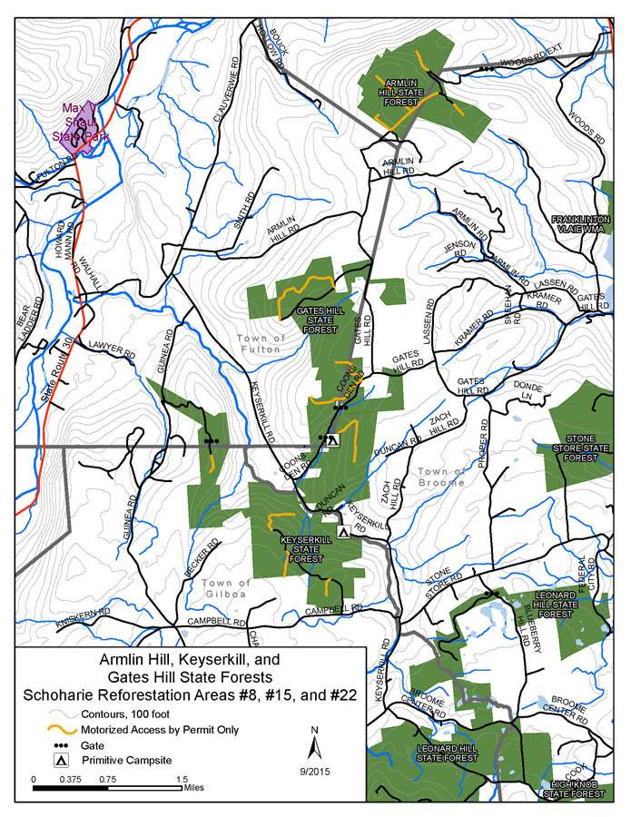 Keyserkill Complex State Forests Map