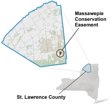 Massawepie Conservation Easement locator map