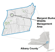 Margaret Burge WMA Locator Map