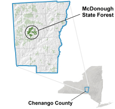 McDonough State Forest locator map