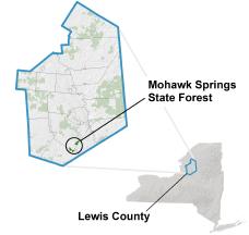 Mohawk Springs State Forest locator map