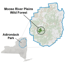 Moose River Plains Wild Forest locator map