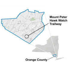 Mount Peter Hawk Watch is located in the southern corner of Orange County.