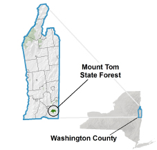 Mount Tom State Forest locator map