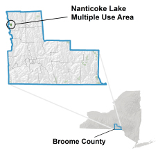 Nanticoke Lake MUA locator map