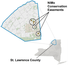 NiMo Conservation Easements locator map
