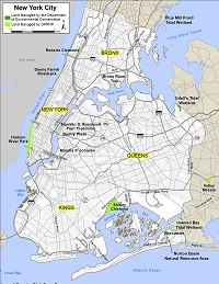 recreation lands map for New York City area