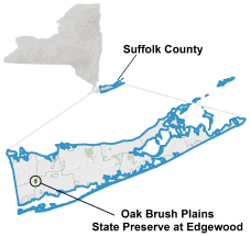 Oak Brush Plains locator map
