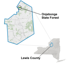 Onjebonge State Forest locator map