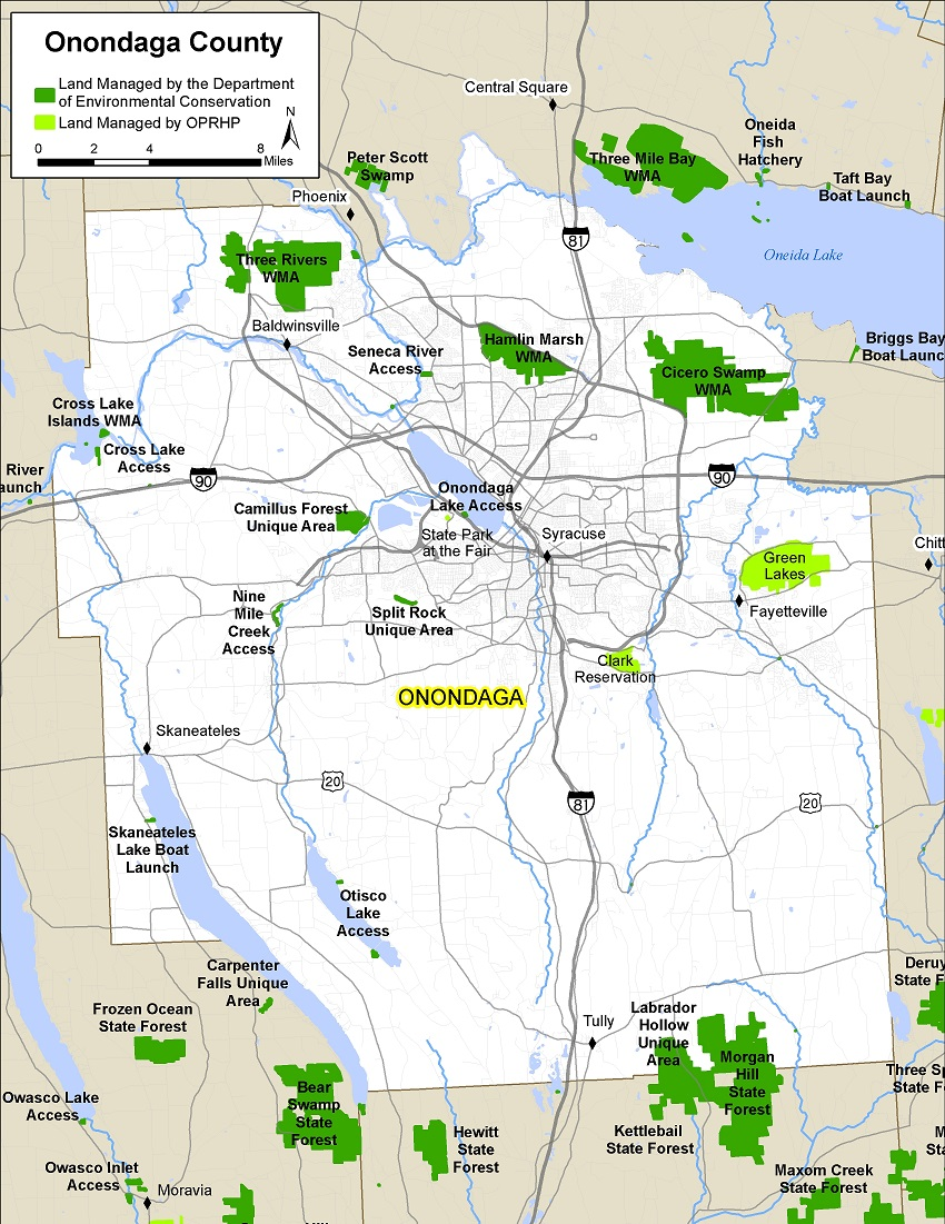 map of Onondaga County