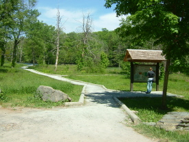 An accessible trail at Onteora Lake