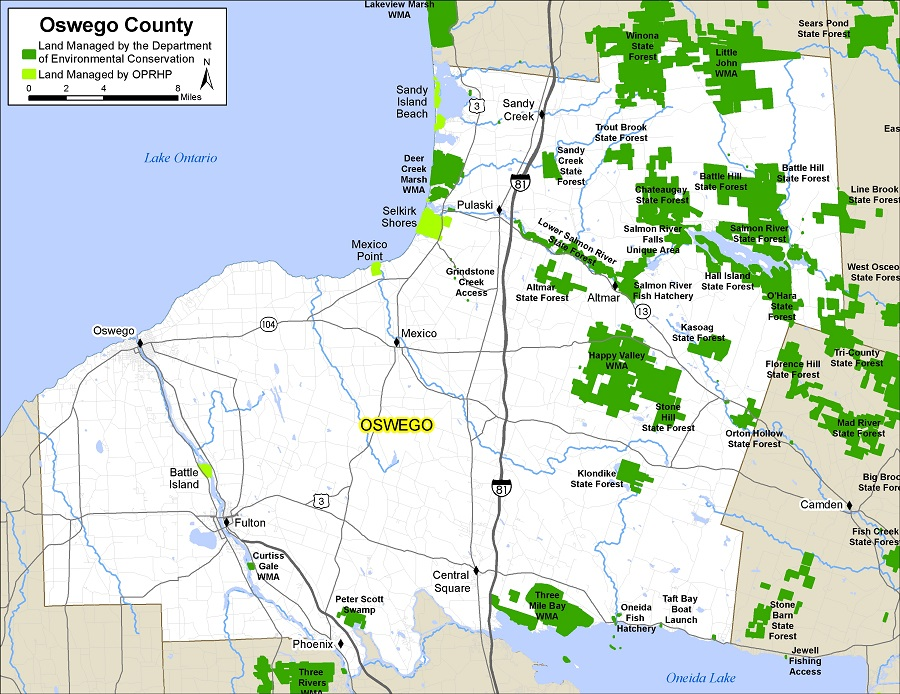 map of Oswego County