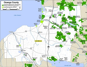 Oswego County map