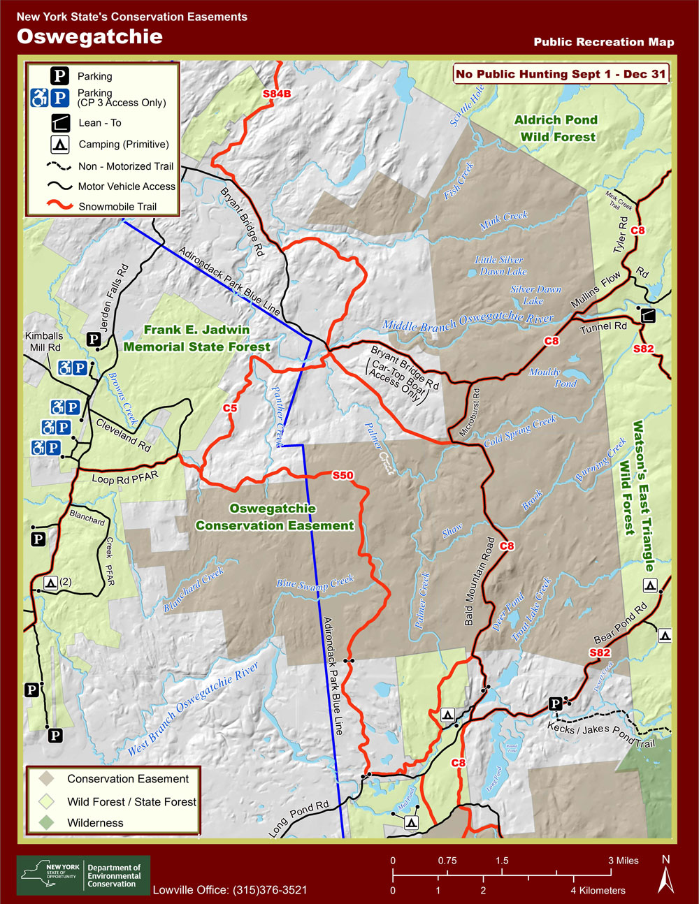 Oswegatchie Conservation Easement Location Map