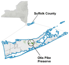 Otis Pike Preserve locator map