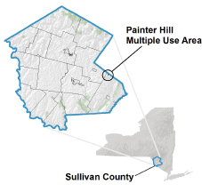 Painter Hill Multiple Use Area locator map