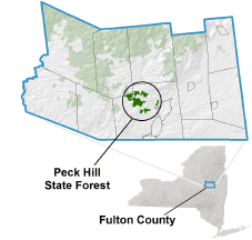 Peck Hill State Forest locator map