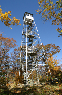 Mount Tremper Fire Tower in fall