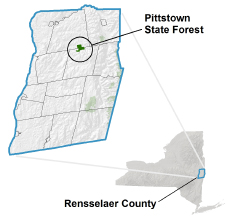 Pittstown State Forest locator map