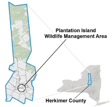 Plantation Island WMA Locator Map