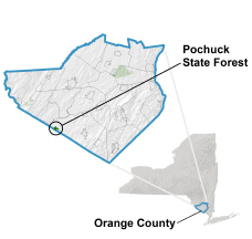Pochuck State Forest locator map