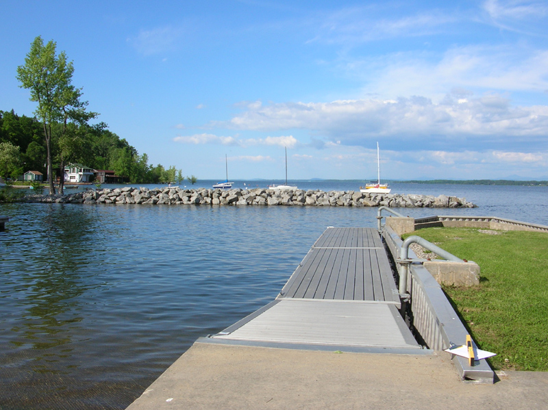 Accessible dock at Port Henry Boat Launch