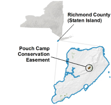 Pouch Camp Conservation Easement locator map