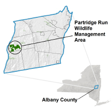 Partridge Run WMA Locator Map