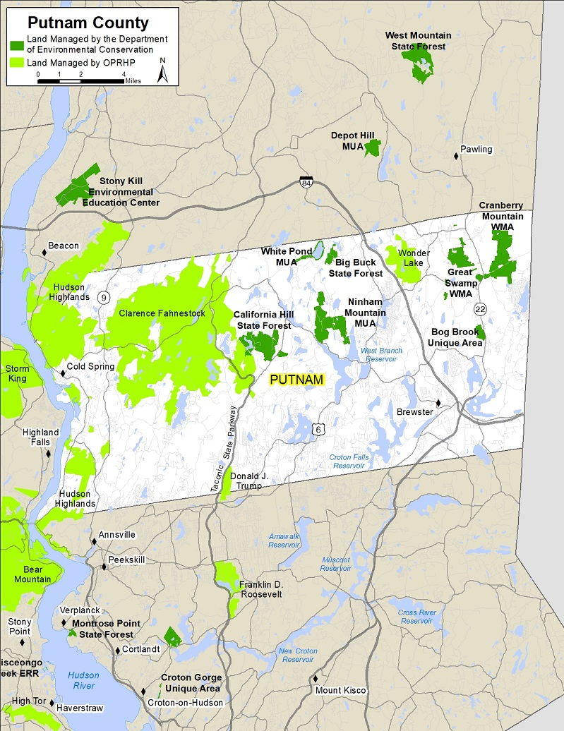 Putnam County Map NYS Dept Of Environmental Conservation - New york state map with counties