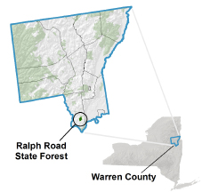 Ralph Road State Forest locator map
