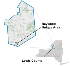 Raywood Unique Area locator map